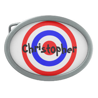 Bullseye Just Add Name Oval Belt Buckles