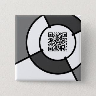 bullseye QR code 15 Cm Square Badge
