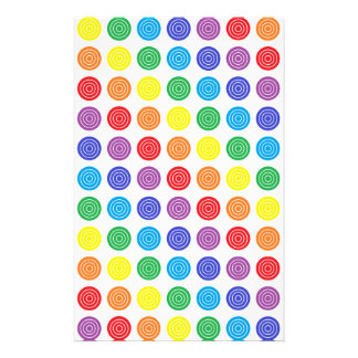 Bullseye Rainbow Stationery