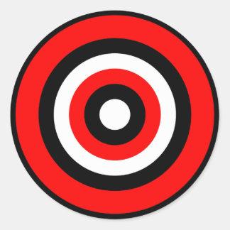 BullsEYE Red Black White Round Sticker