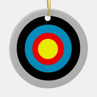 Bullseye Round Ceramic Decoration
