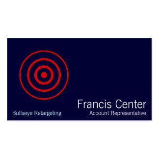 Bullseye Symbol Pack Of Standard Business Cards