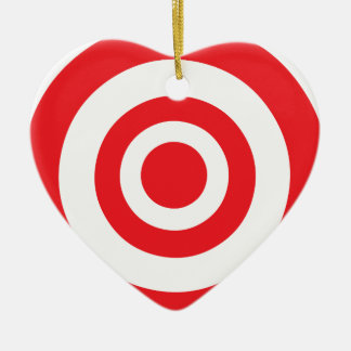 Heart shaped targets ceramic decorations heart shaped targets bullseye target christmas ornament thecheapjerseys Gallery