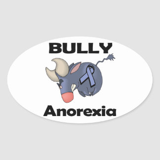 BULLy Anorexia Oval Sticker