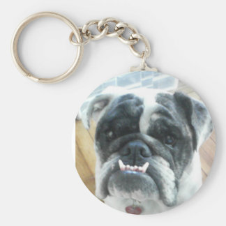 Bully Basic Round Button Key Ring