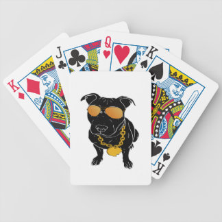 Bully breed design bicycle playing cards