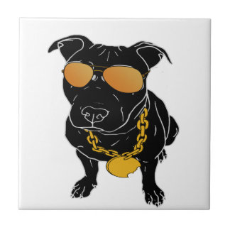 Bully breed design small square tile