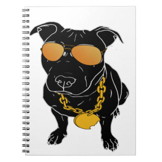 Bully breed design spiral notebook