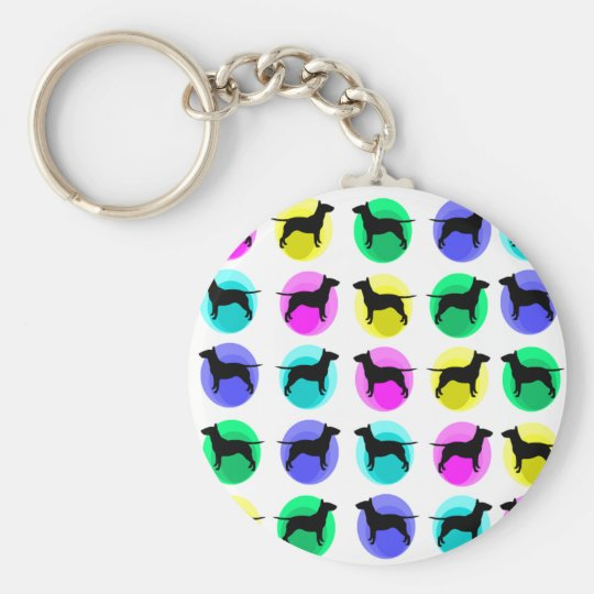 Bully Bubbles Multi Basic Round Button Key Ring