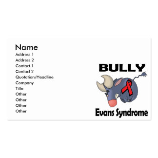 BULLy Evans Syndrome Double-Sided Standard Business Cards (Pack Of 100)