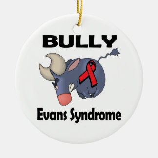 BULLy Evans Syndrome Double-Sided Ceramic Round Christmas Ornament