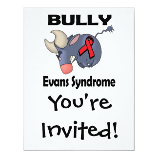 BULLy Evans Syndrome 4.25x5.5 Paper Invitation Card