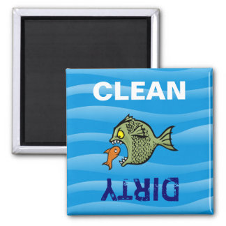 Bully fish square magnet