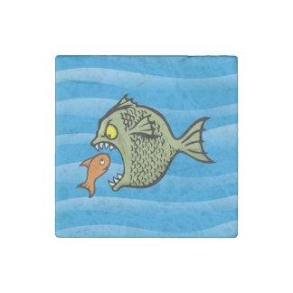 Bully fish stone magnet