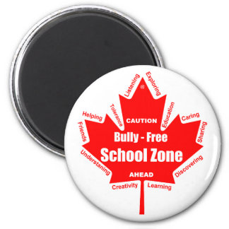 Bully - Free School Zone Canada 6 Cm Round Magnet