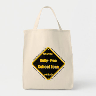 Bully - Free School Zone Grocery Tote Bag