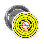 Bully Free School Zone Pins