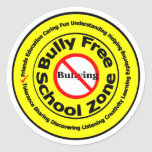 Bully Free School Zone Round Sticker