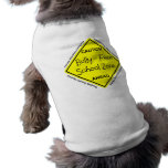 Bully - Free School Zone Sleeveless Dog Shirt
