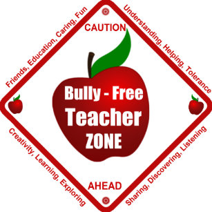 No bullying posters prints zazzle uk bully free teacher zone poster publicscrutiny Choice Image