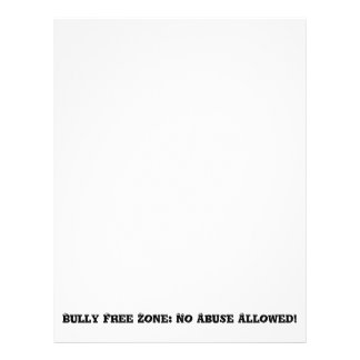 Bully Free Zone: No Abuse Allowed - Anti Bully 21.5 Cm X 28 Cm Flyer