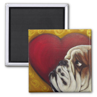 Bully Heart Square Magnet