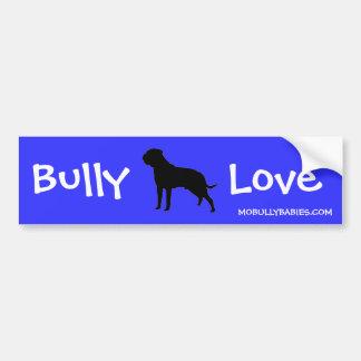 Bully Love Bullmastiff Bumper Sticker - blue