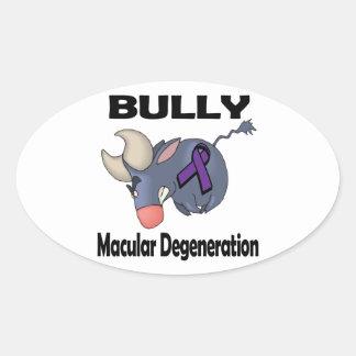 BULLy Macular Degeneration Oval Stickers