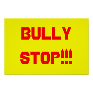 BULLY STOP Poster