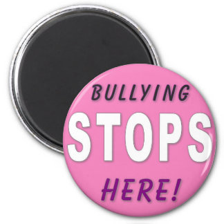 Bully Stops Here 6 Cm Round Magnet
