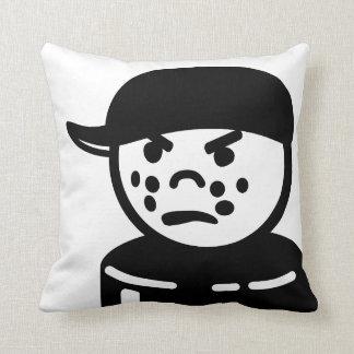 Bully Tough Kid Vintage Toy - Black and White Throw Pillow