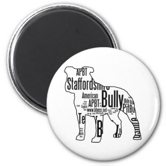 Bully Words 6 Cm Round Magnet