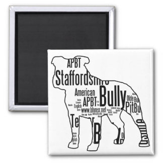 Bully Words Square Magnet