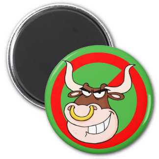 Bullying Awareness: Leave Bullying to the Bulls 6 Cm Round Magnet