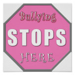 Bullying Stops Here Posters