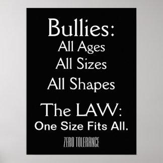 Bullying - Zero Tolerance - SRF Poster