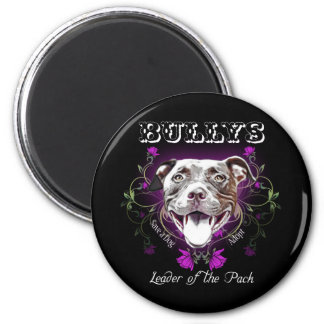 Bullys, the Leader of the Pack Dog 6 Cm Round Magnet