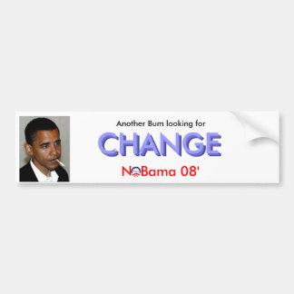 Bum... Change Car Bumper Sticker