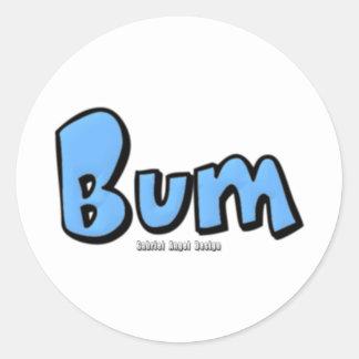 Bum Classic Round Sticker