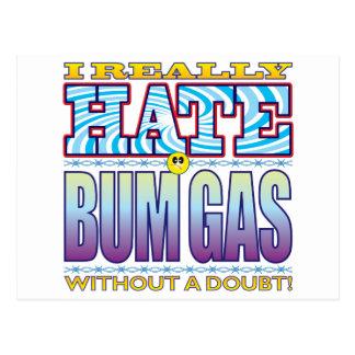 Bum Gas Hate Face Postcard