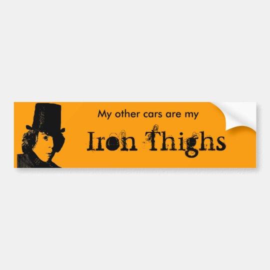 Bumber Thighs Bumper Sticker