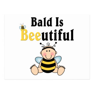 Bumble Baby Bee Bald is Beautiful Postcard
