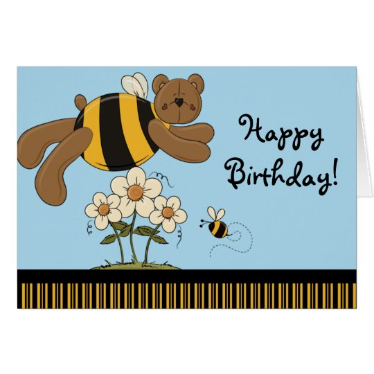 Bumble Bears Happy Birthday Greeting Card