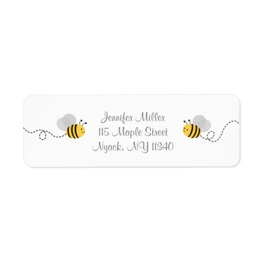 Bumble Bee Address Labels
