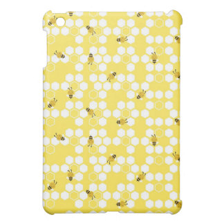 Bumble Bee and Honeycomb Print iPad Mini Cases