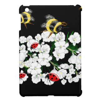Bumble bee and ladybugs on flowers art gifts cover for the iPad mini