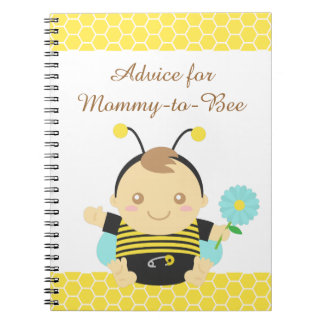 Bumble Bee Baby, For Mommy to Be Spiral Notebooks