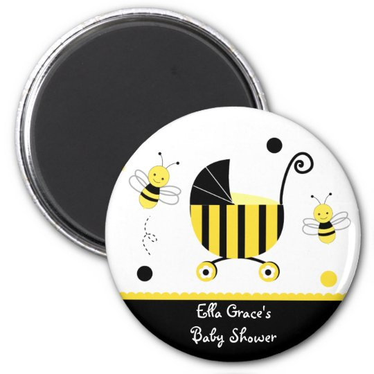 Bumble Bee Baby Shower Favour Magnets