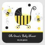 Bumble Bee Baby Shower Favour Stickers Labels Seal