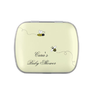 Bumble Bee Baby Shower Mints and Candy Jelly Belly Tin